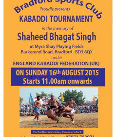 Bradford Tournament 16-Aug-2015