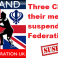 Three Clubs and their members suspended by Federation